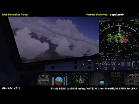 [Livestream] Approach into EGGP Liverpool with Thunderstorms