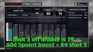 Nba 2k17 full attribute upgrade caps for a 6'6 PG and a 6'6 SG slasher archetype