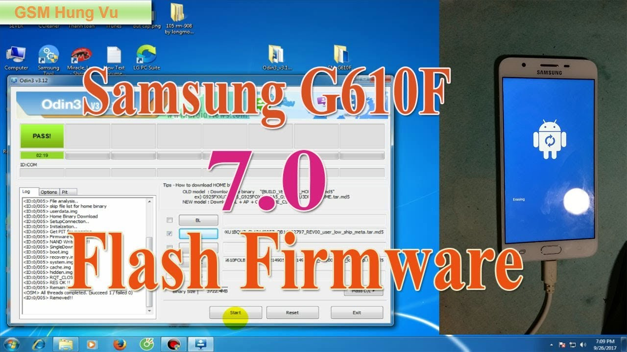 Samsung J7 Prime Flash Update firmware 7 0 by Odin
