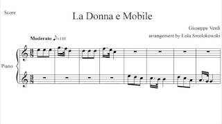 "HomeOrchestra / Verdi / ""La Donna e Mobile"" / Piano and Orchestra"