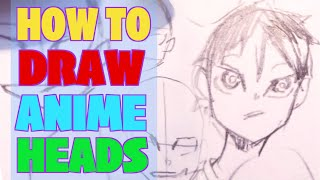 How To Draw Male Anime Head FAST & Easy | Anime Face