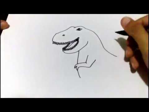 Menggambar T Rex Lucu Youtube