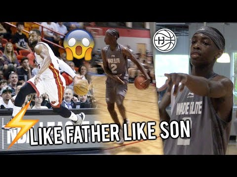 """Zaire Wade Getting FLASHY Like His DAD! """"HeadBand Z"""" TOYING With Defenders! Wade Elite SHOWS OUT!"""