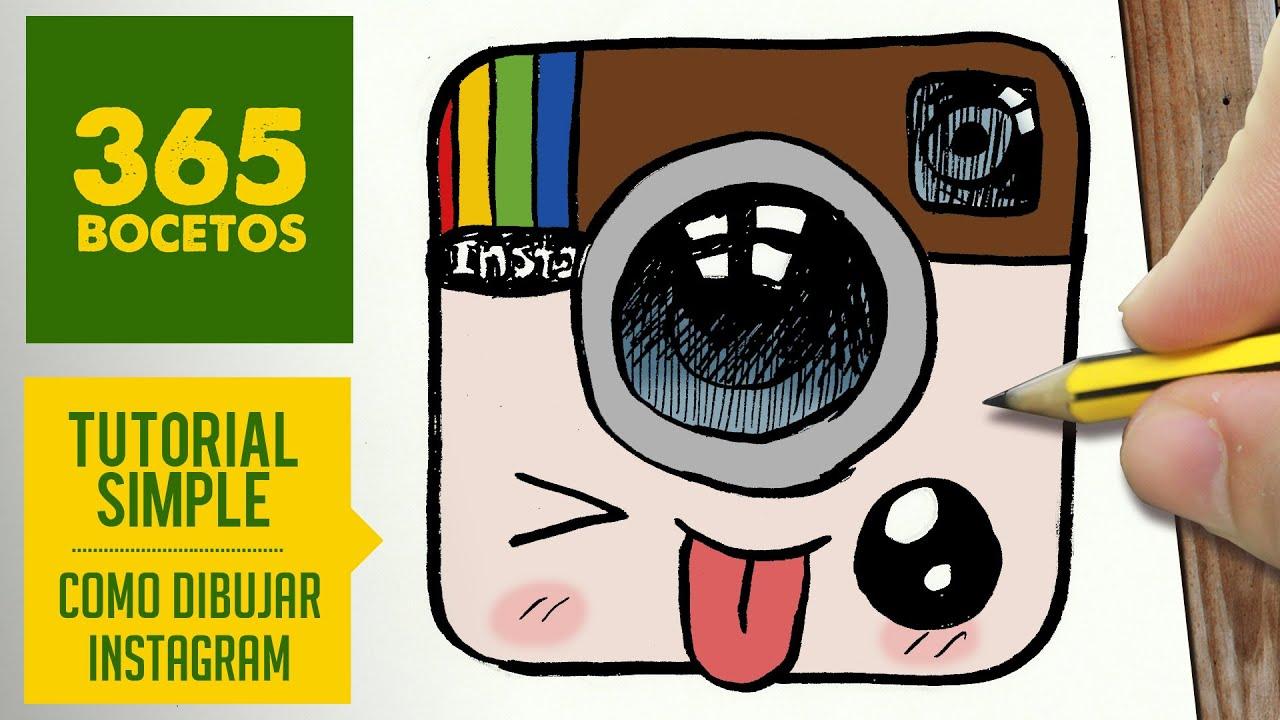 Como Dibujar Logo Instagram Kawaii Paso A Paso Dibujos Kawaii Faciles Draw Logo Instagram
