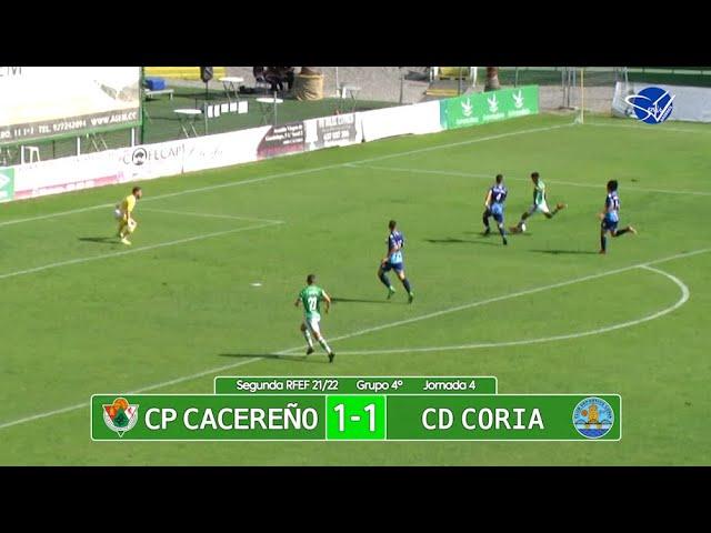Resumen: CP Cacereño - CD Coria (2ª RFEF Gr.IV 21/22)