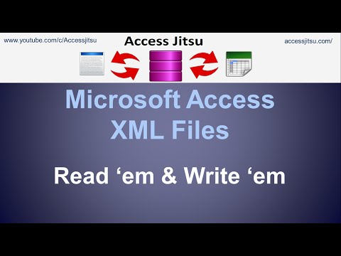 Microsoft Access - Using XML Files