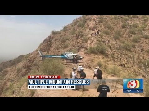 Phoenix fire crews rescue four separate hikers in one day