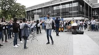 Flashmob Cana Brava - Sinfonica Nacional Juvenil Republica Dominicana  mit dem Uniorchester Hamburg