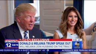 Melania Trump finds out on live TV that she'll give speeches for her husband on campaign trail