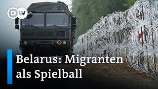 Migranten im Grenzgebiet von Belarus und Polen | DW Nachrichten