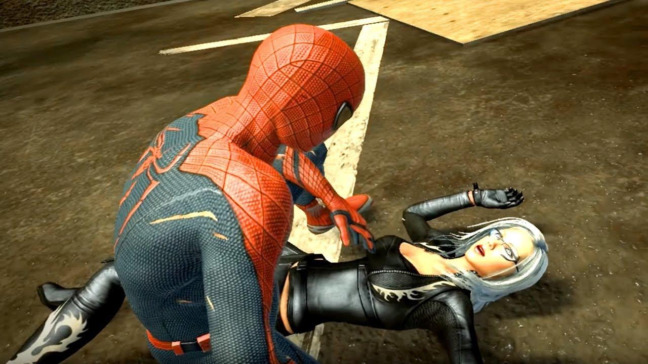 The Amazing Spider Man vs Black Cat fight & love scene in ...