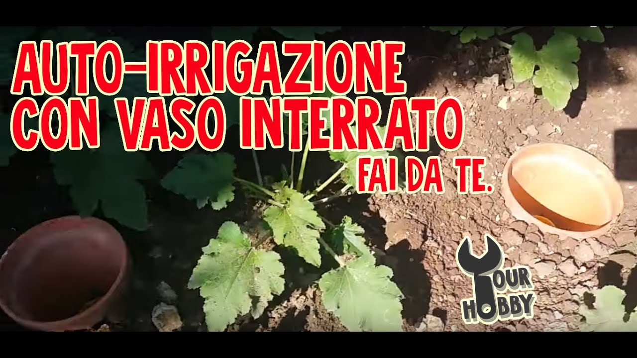 Auto irrigazione con vaso interrato fai da te youtube for Sistema di irrigazione fai da te