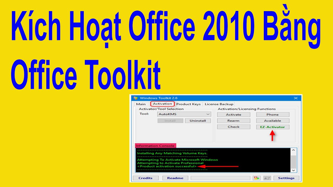 Kích Hoạt Office 2010 Bằng Office Toolkit