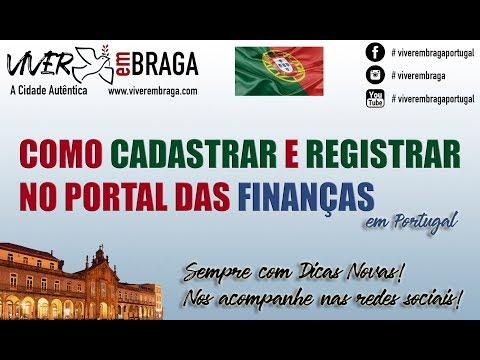 Pedido de Senha e Cadastro no Portal das Finanças em Portugal  - Viver em BRAGA - Portugal