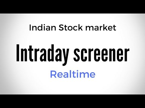 Free NSE Intraday Screener with Realtime updates   Fatafat