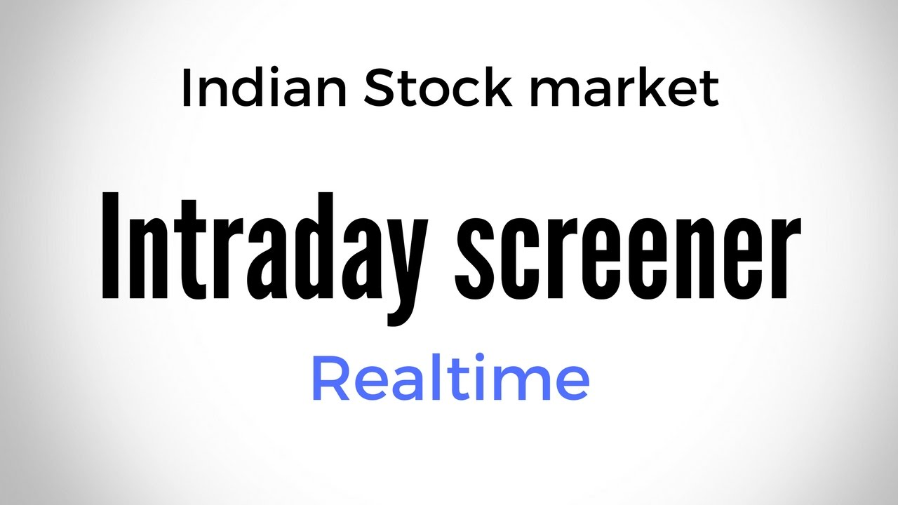 Free NSE Intraday Screener with Realtime updates | Fatafat stocks screener