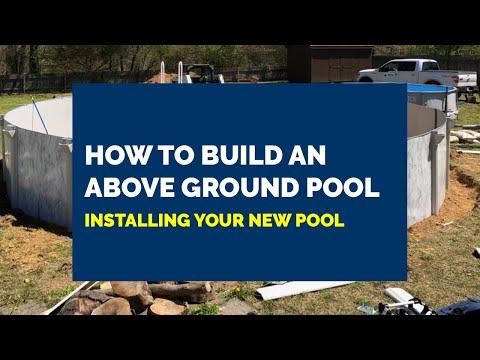 Round Above Ground Pool Installation