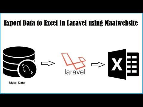 Export Data to Excel in Laravel using Maatwebsite - YouTube
