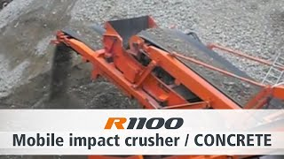 Impact crusher Rockster R1100 - Concrete