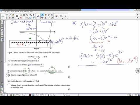 C34 Edexcel June 2015 question 3