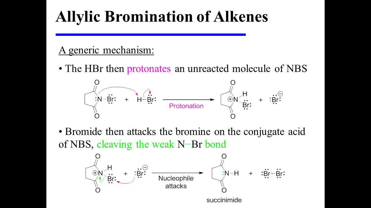 Allylic Bromination Of Alkenes Youtube