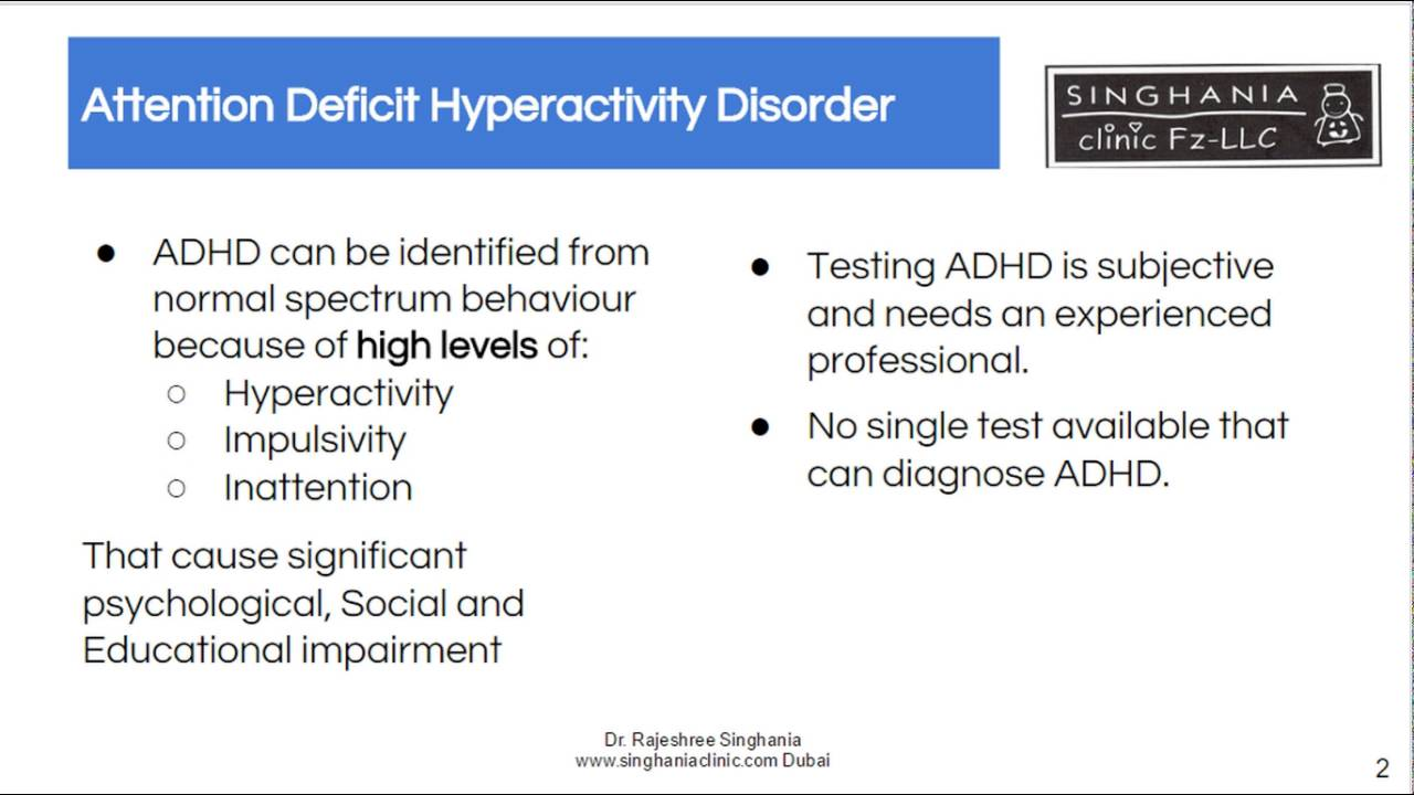 ADHD Test   No Single One Test To Diagnose Your Child With ...