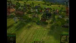 World of Tanks AMX13.90 Game-play video, Westfeld Map