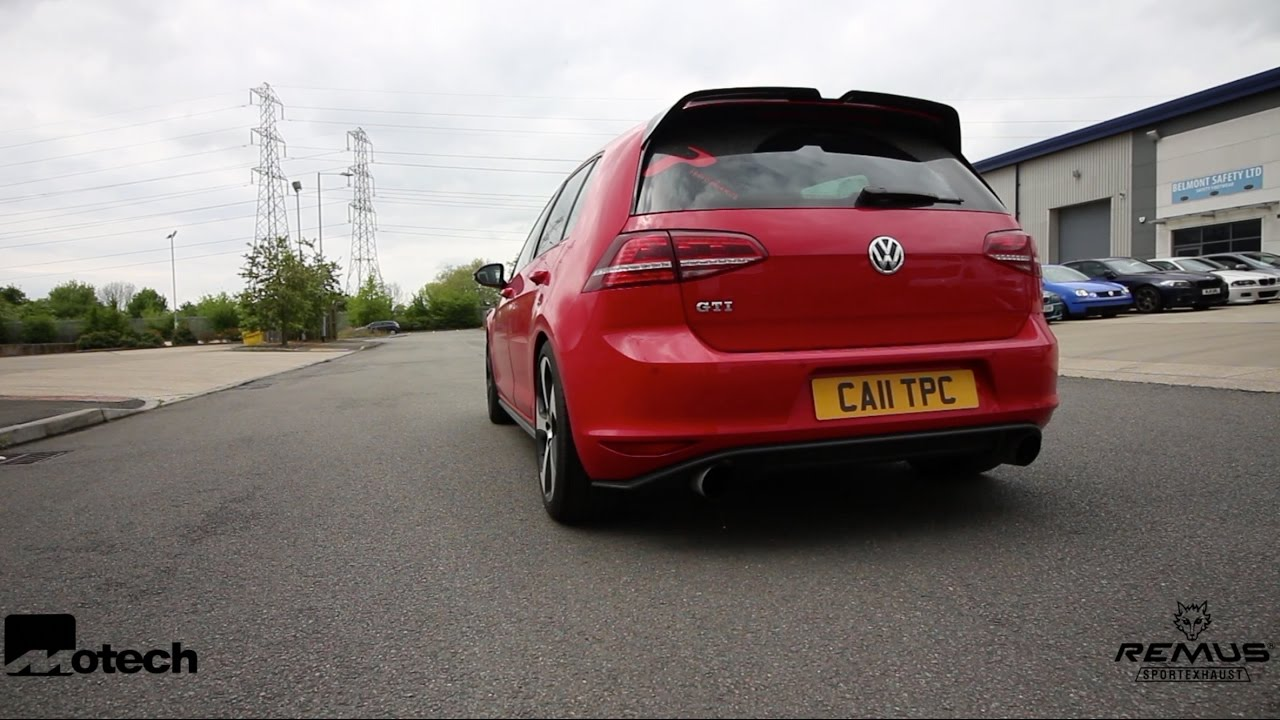 motech performance mk7 volkswagen golf gti remus rear box delete and stage 1 remap youtube