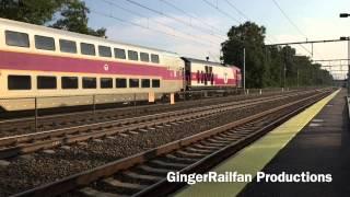 [HD] Trains in Attleboro, MA feat. 7 Car Acela