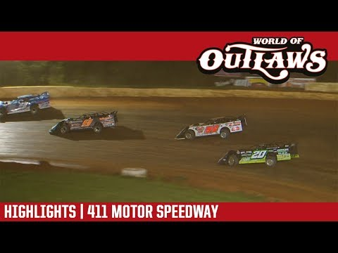 World of Outlaws Craftsman Late Models 411 Motor Speedway June 1, 2018 | HIGHLIGHTS