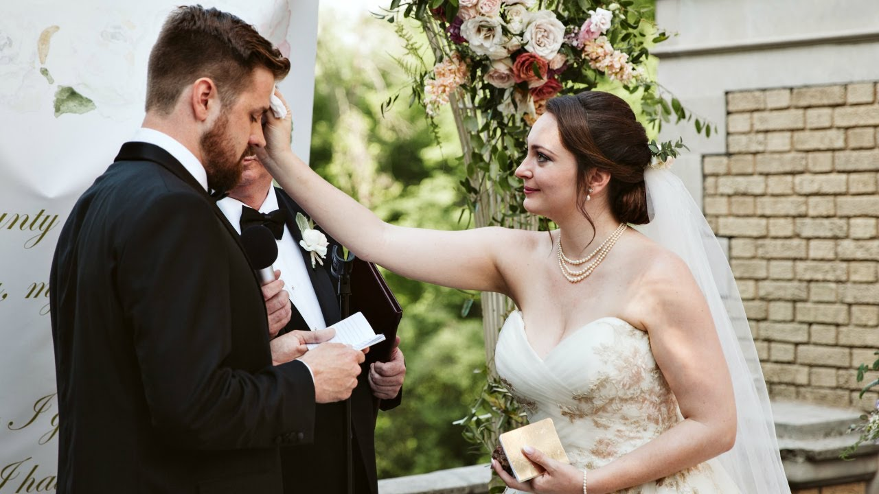Groom Cries During The Most Beautiful Wedding Vows