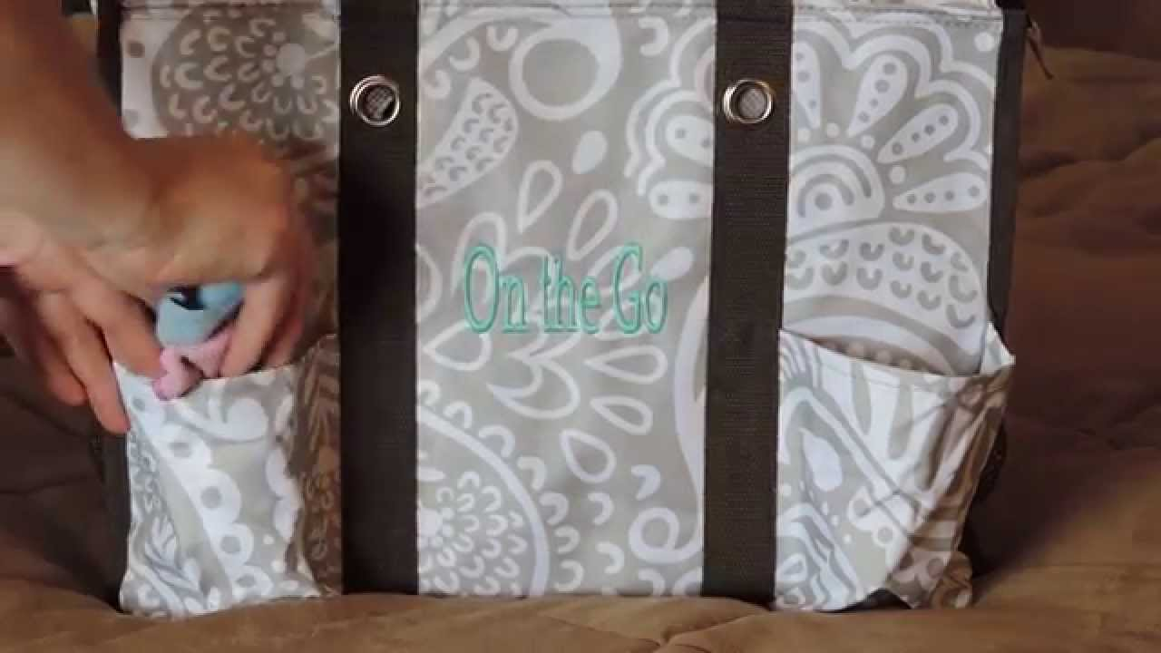 Zip Top Organizing Utility Tote By Thirty One Youtube