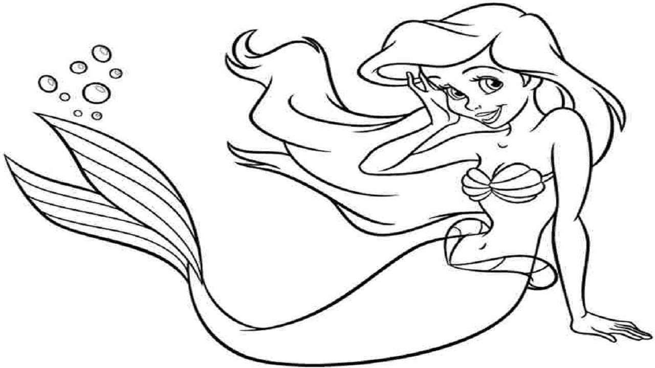 How To Draw A Mermaid - Easy Drawing Lesson for Kids! Art ...