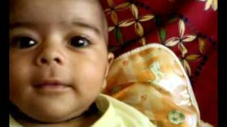 2 Months old baby Anvi : just practising indian music :)