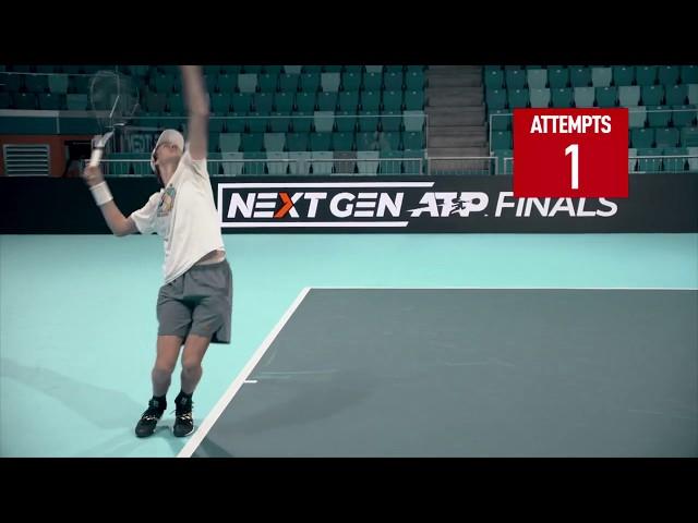 Sinner Takes Next Gen Serve Challenge | Next Gen ATP Finals