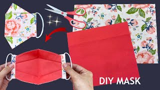 New Style Cute Mask Diy 3D Face Mask Easy Pattern Sewing Tutorial How to Make Mask Making Ideas