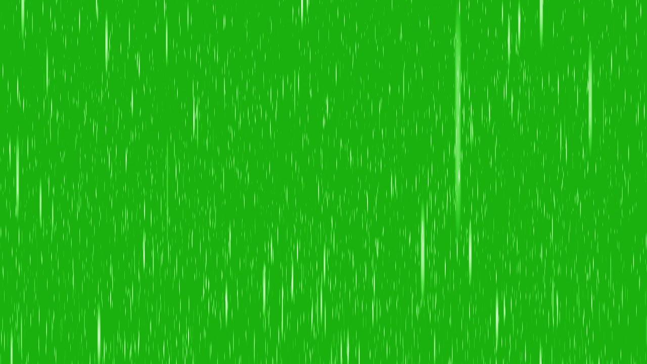 Efecto Lluvia GREEN SCREEN Pantalla Verde