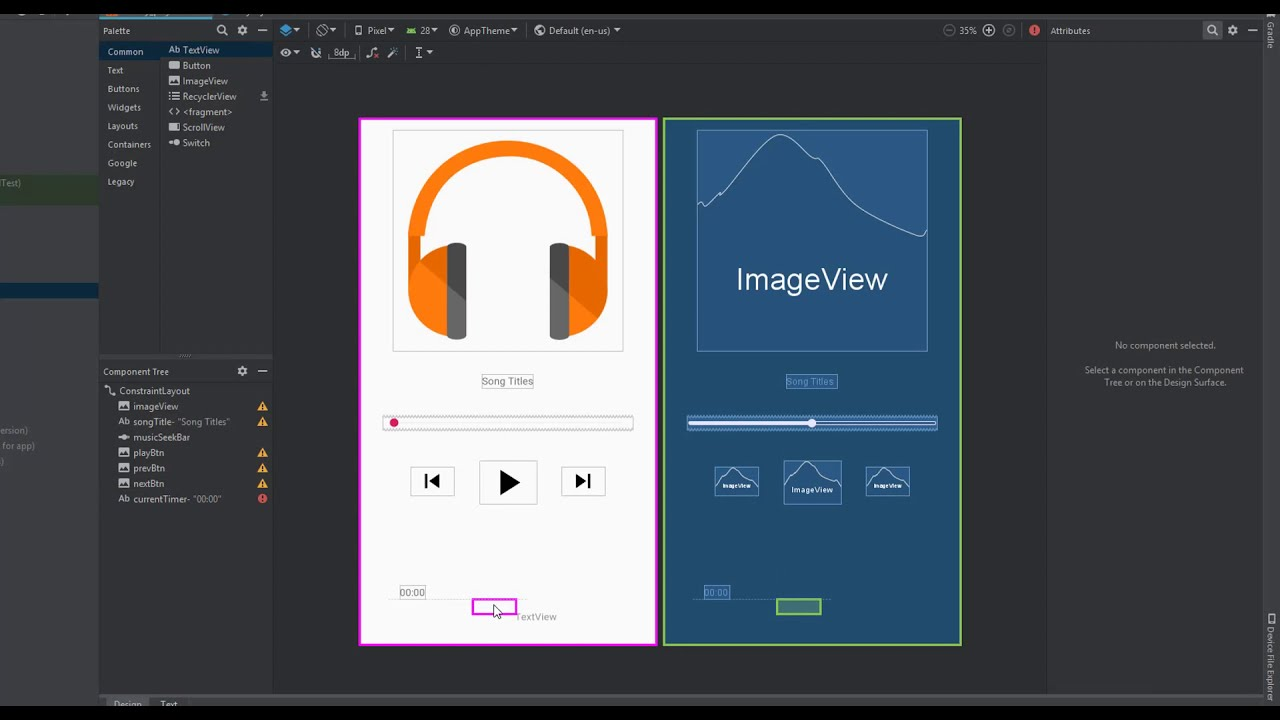 Display Song Duration in SeekBar |Tab Layout Music Player | Android Studio  3 4 Tutorial