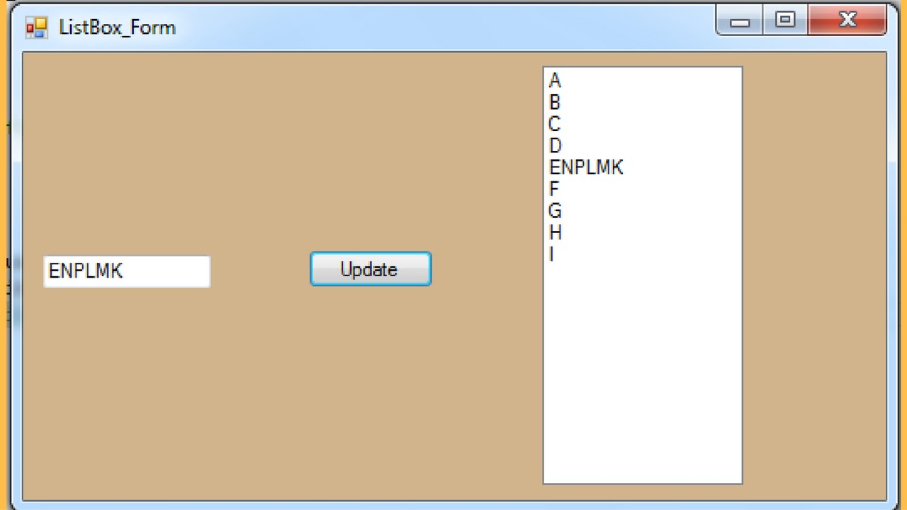 C# Tutorial - How To Update ListBox Selected Item In C# [ with source code ]