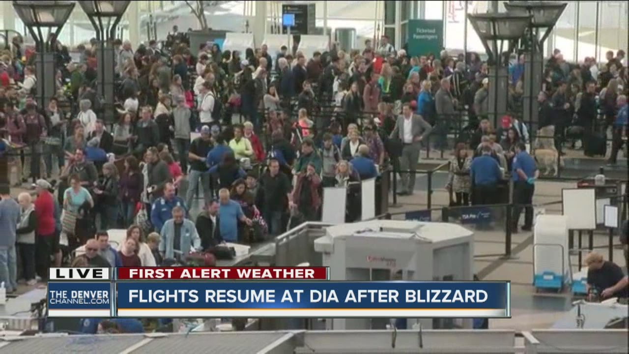 Runways reopen at DIA but airlines cancel several flights for Thursday