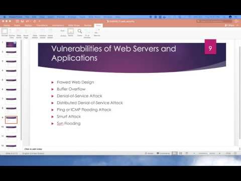 10 - Principles of Information Security and Privacy 6200 - Web Application Security 2
