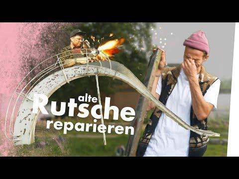 RIESEN WASSERRUTSCHE für den TEICH restaurieren! (50 Jahre alt)