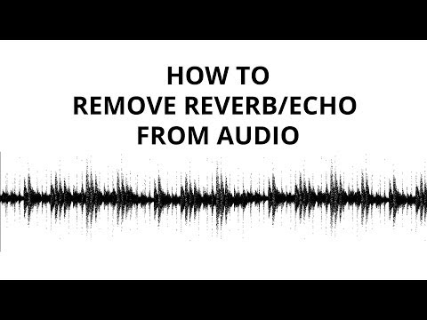 How to remove reverb and echo from audio (noise gate tutorial)