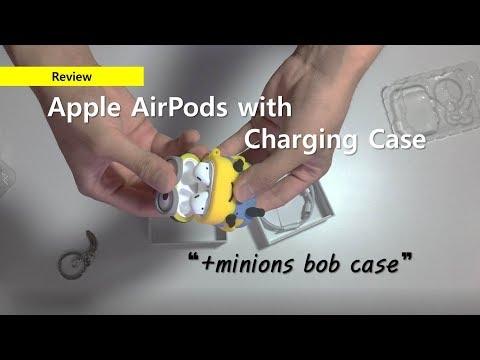 애플 에어팟 AirPods 2세대 충전 케이스 모델 개봉기 (+미니언즈 케이스) - Apple AirPods with Charging Case 2nd (+Minions case)