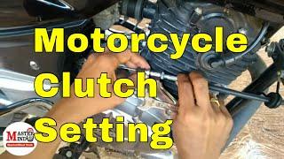 Motorcycle clutch adjustment (Hindi)