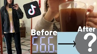 DRINKING APPLE CIDER VINEGAR FOR WEIGHT LOSS | TIKTOK WEIGHT LOSS DRINK •it worked•