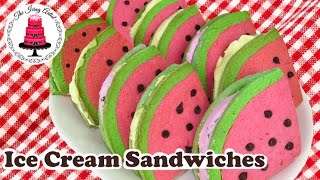 Watermelon Ice Cream Sandwiches - How To Group Collaboration With The Icing Artist