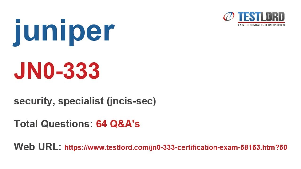 Juniper Jn0 333 Certification Questions Answers In Pdf Youtube