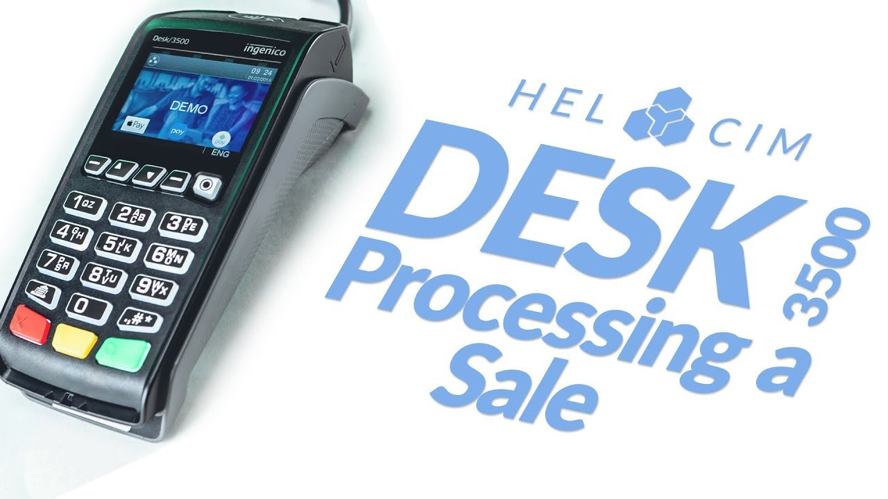 Desk 3500 Terminal: How to run a Credit or Debit Transaction