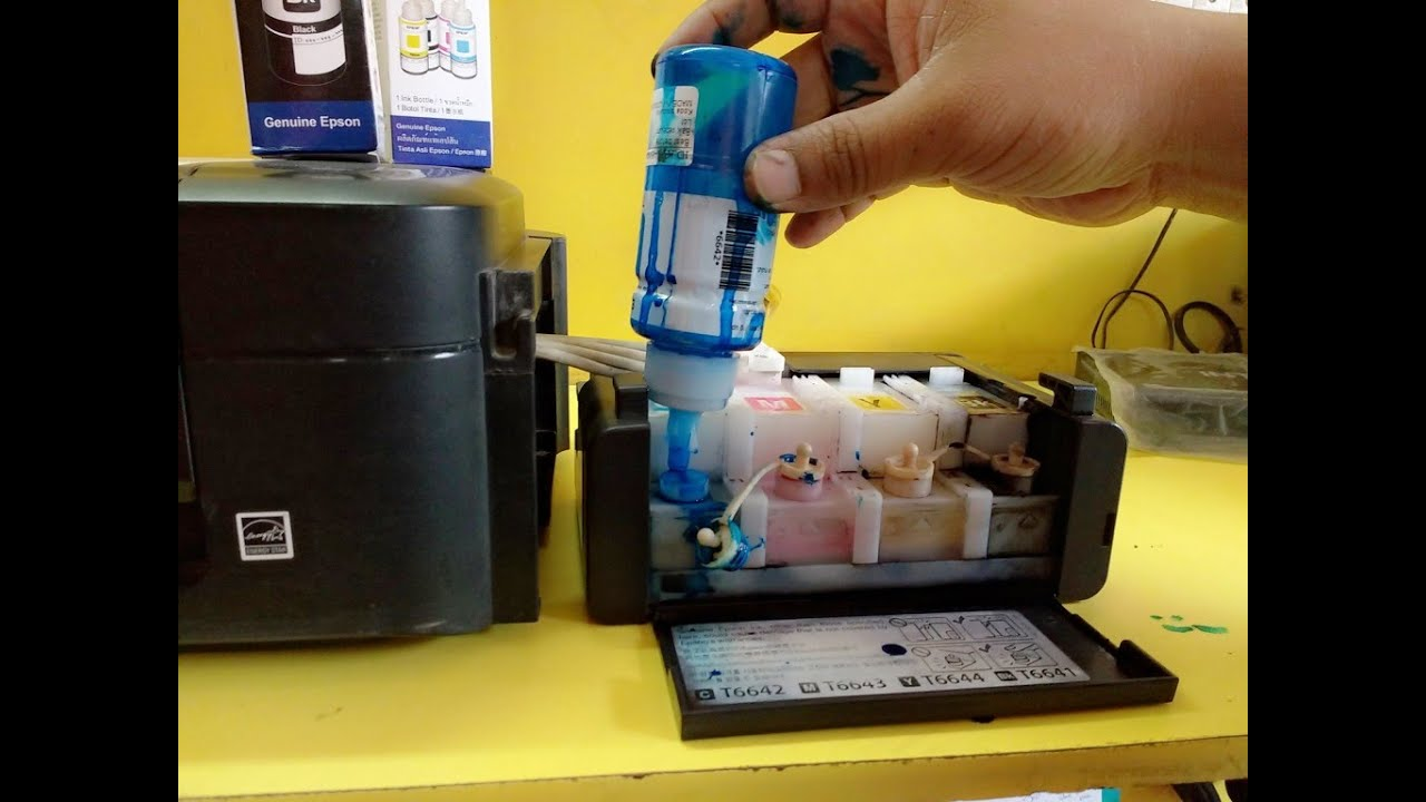 How To Refill Ink In Tank Color Printers